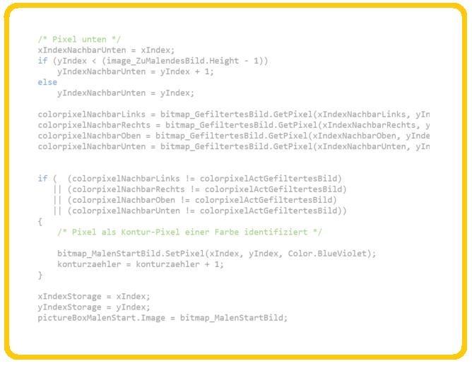 SW-Entwicklung Bildverarbeitung